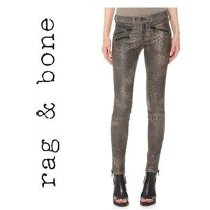 NWOT RAG & BONE Lambskin Leather Leopard Skinny